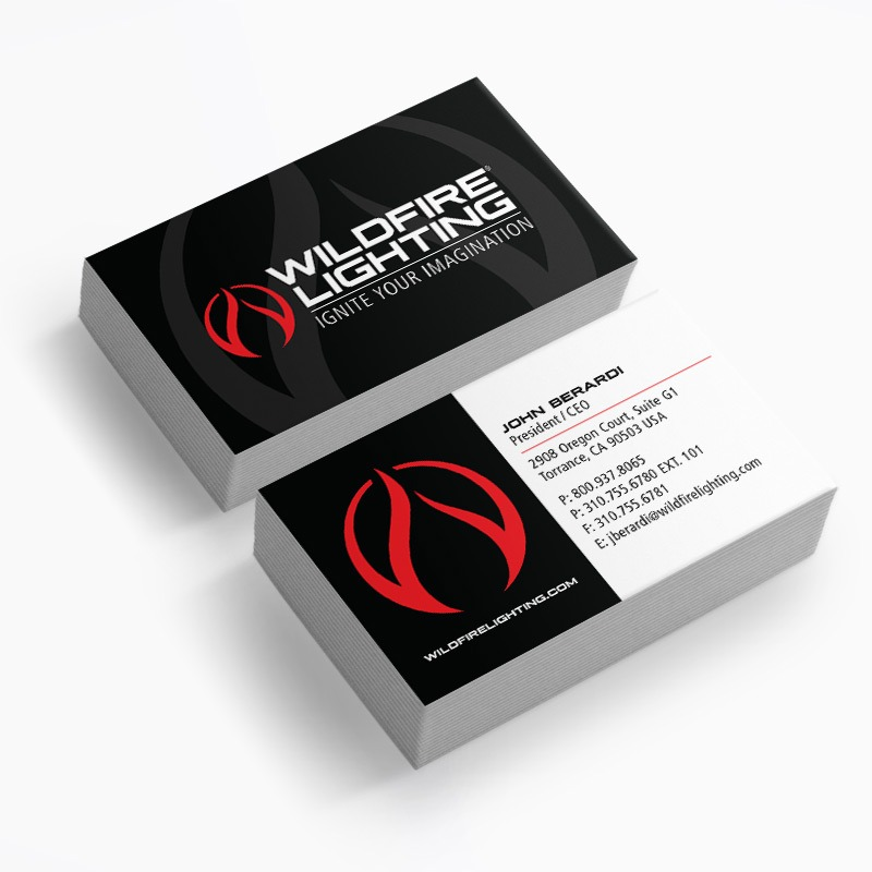 Lighting Business Card Design Company