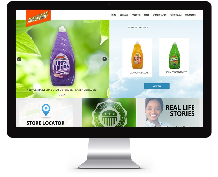 Orange County Cleaning Products Web Design Company