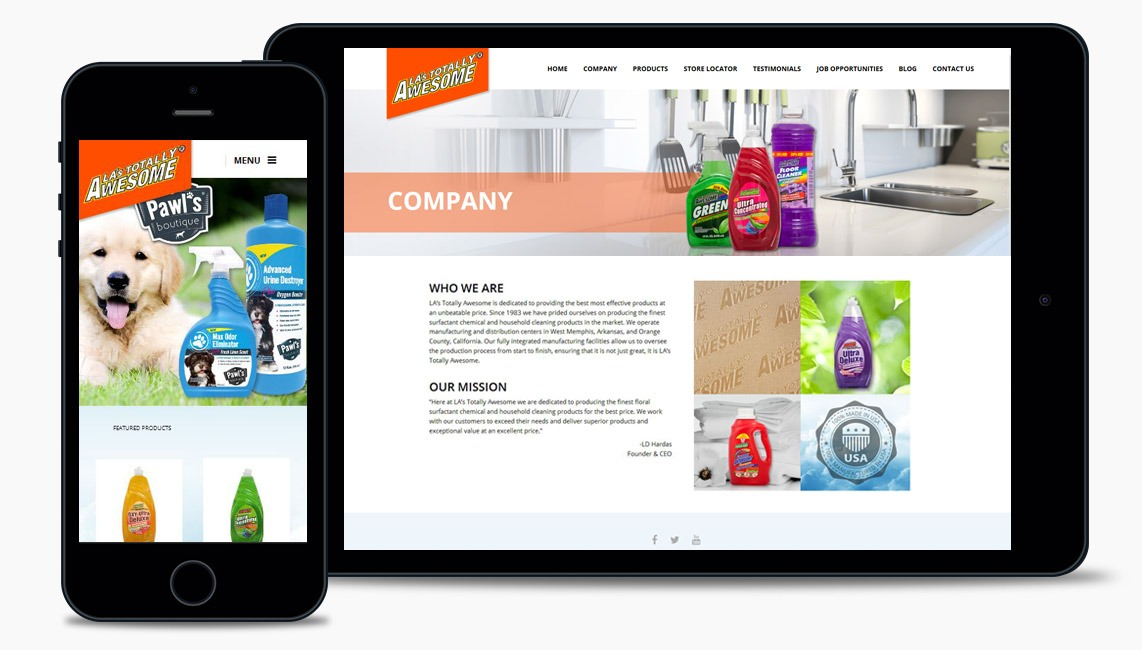 Salad Cleaning Products Web Design Company