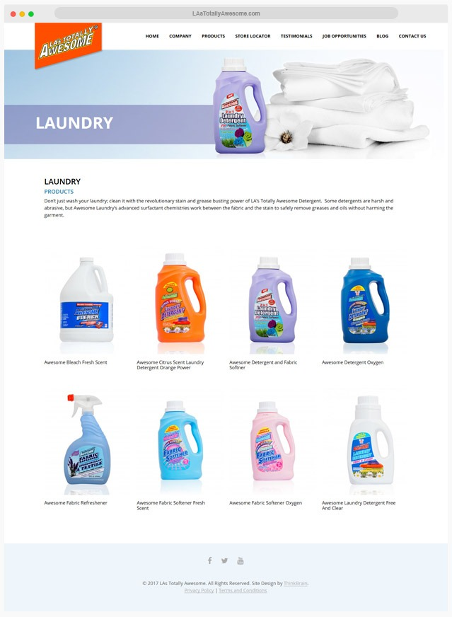 Cleaning Products Website Company