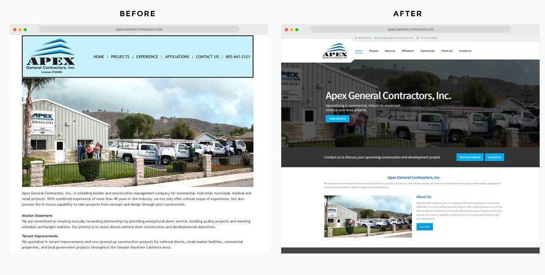 Orange County Construction Web Designer