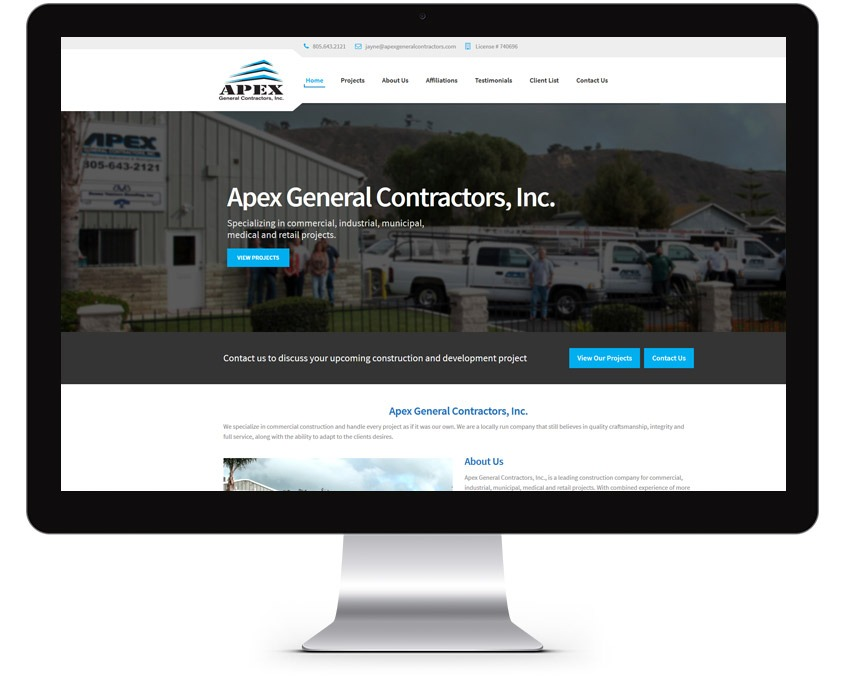 Orange County Construction Web Design Company