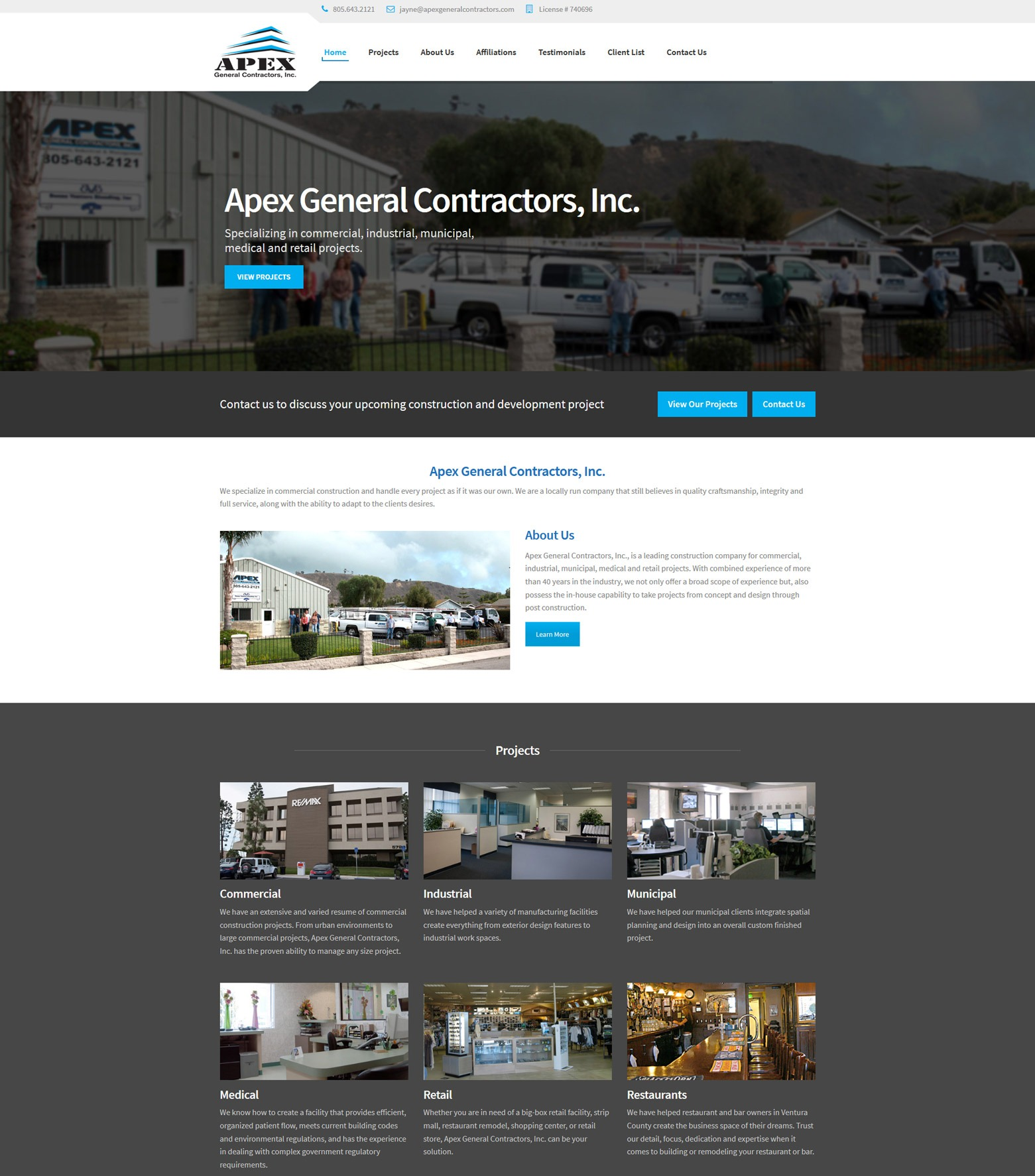 LA Angeles Construction Web Design Company