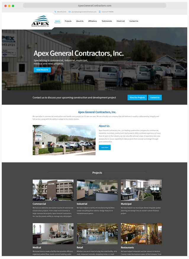 Ventura County Construction Web Design Company
