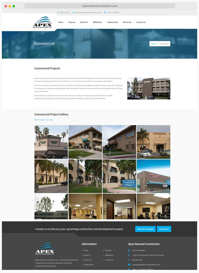 Construction Website Company