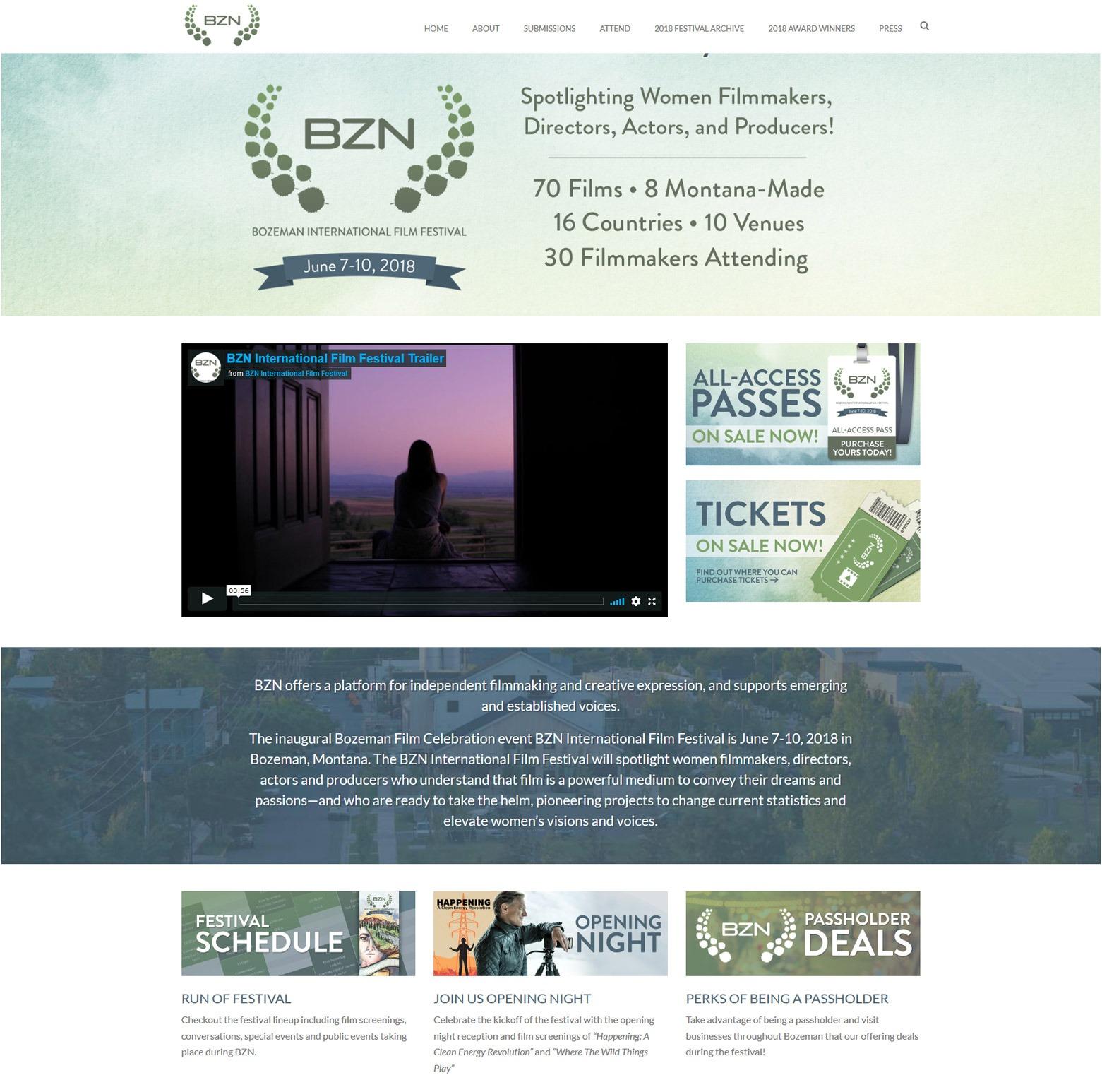 Los Angeles Film Festival Web Design Company