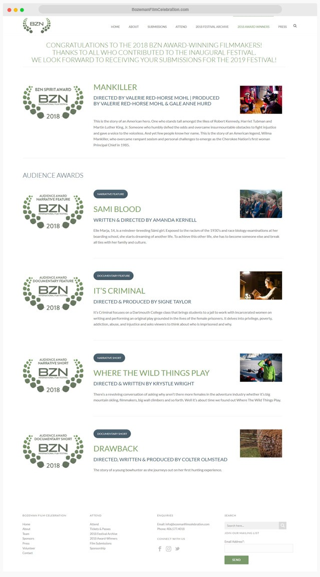 Film Festival Web Designer