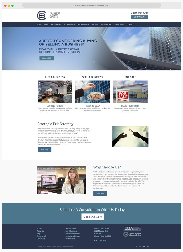 Ventura County Business Broker Web Design Company