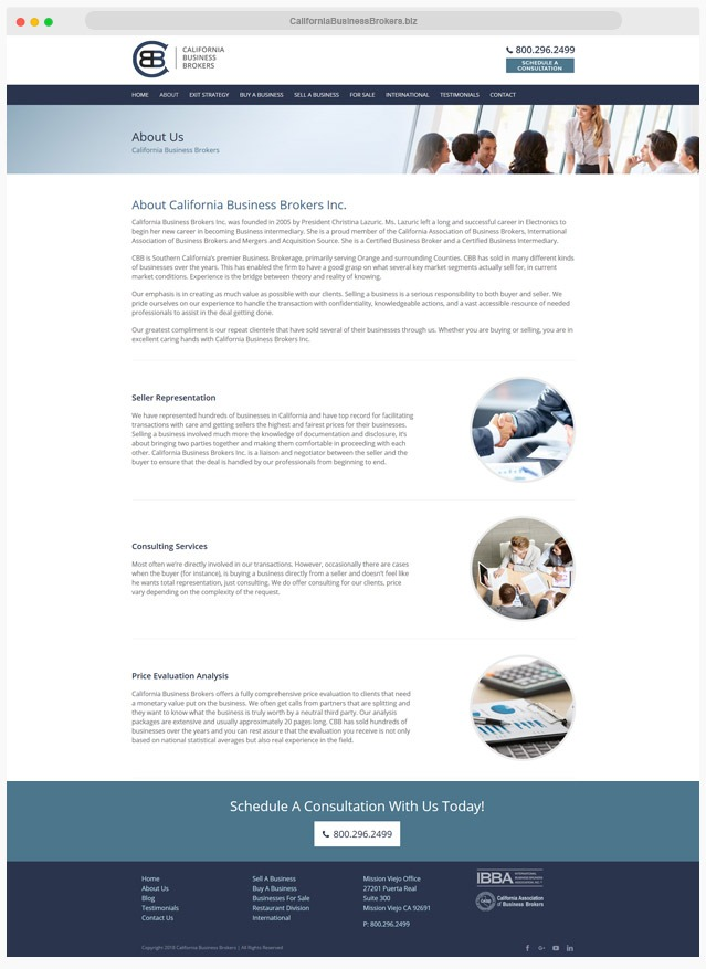 Business Broker Web Designer