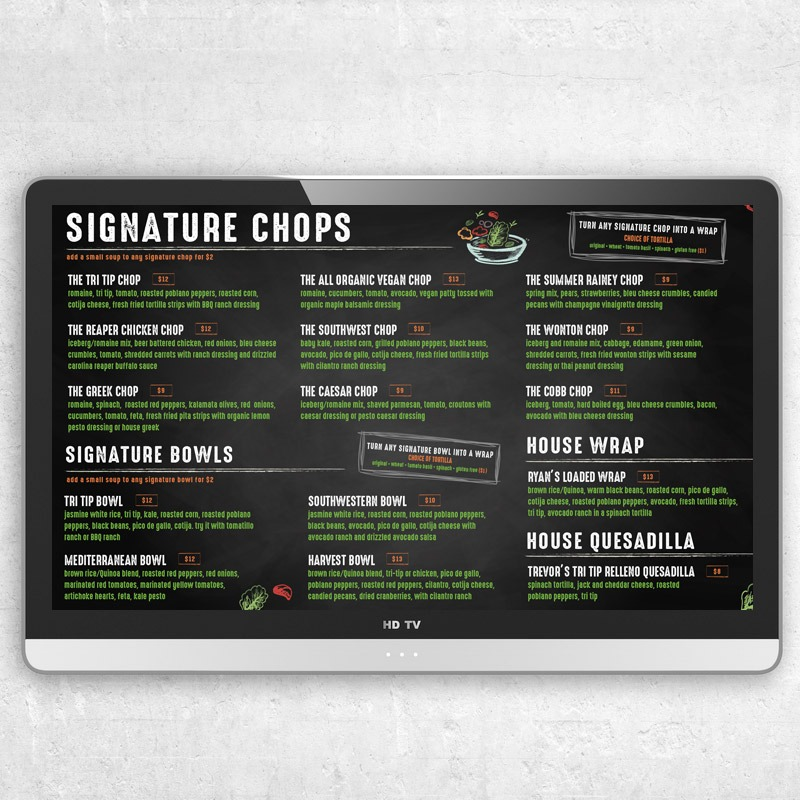 Restaurant Digital Menu Graphic Designer