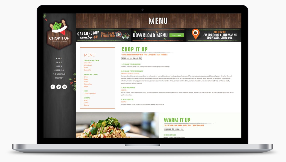 Orange County Restaurant Web Designer