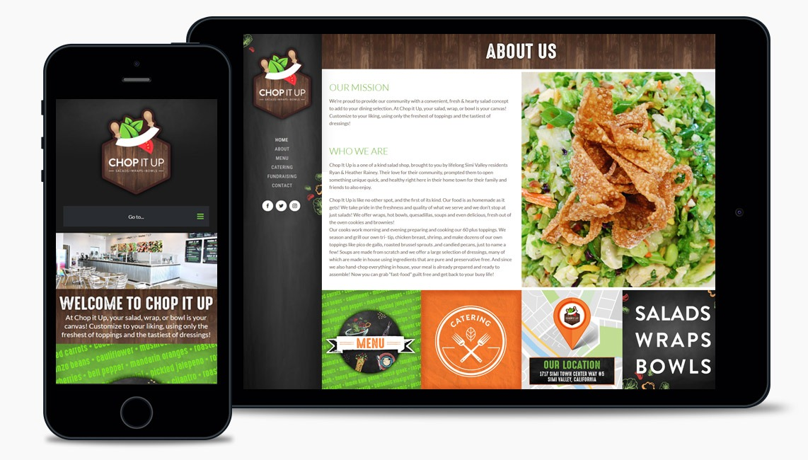 Salad Restaurant Web Design Company