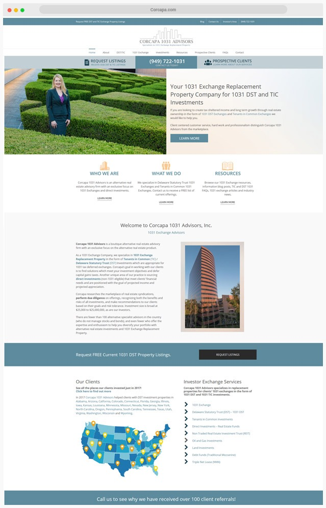 Orange County Real Estate Company Web Designer