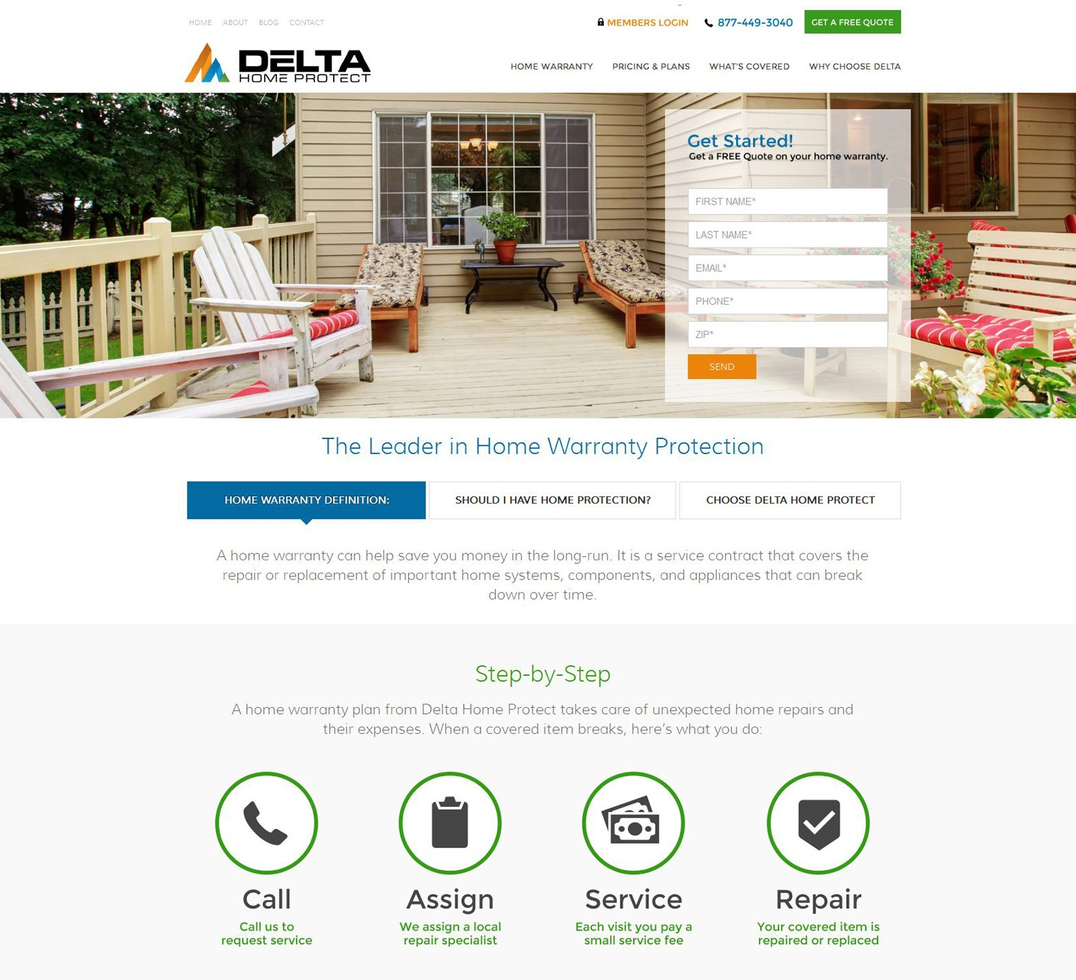 LA Angeles Home Warranty Web Design Company