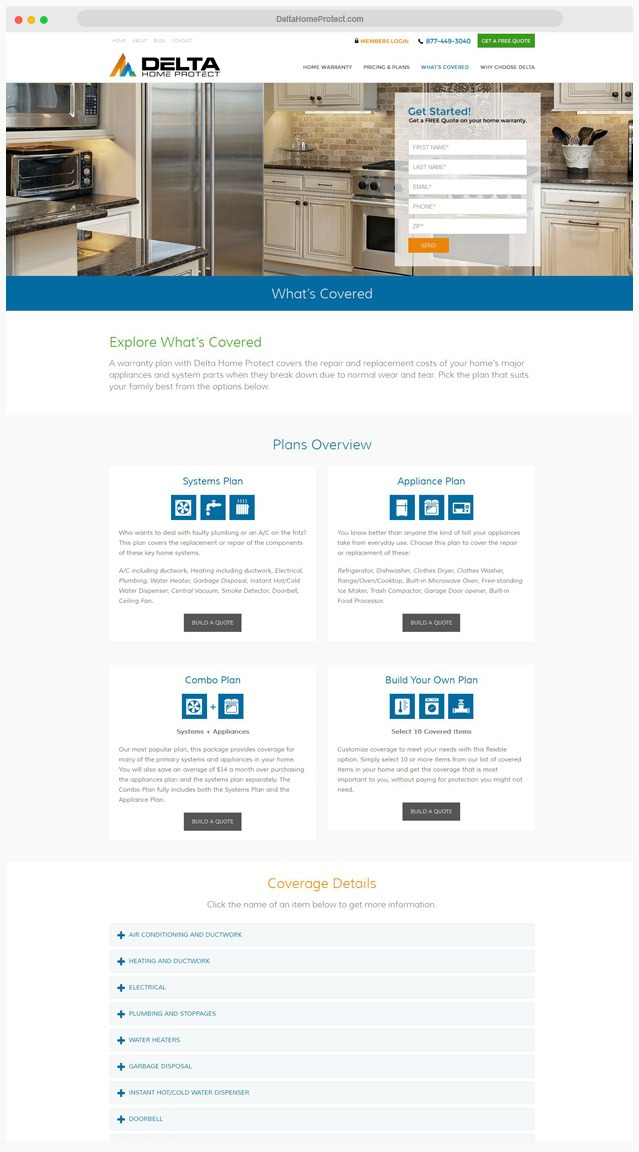 Home Warranty Web Designer