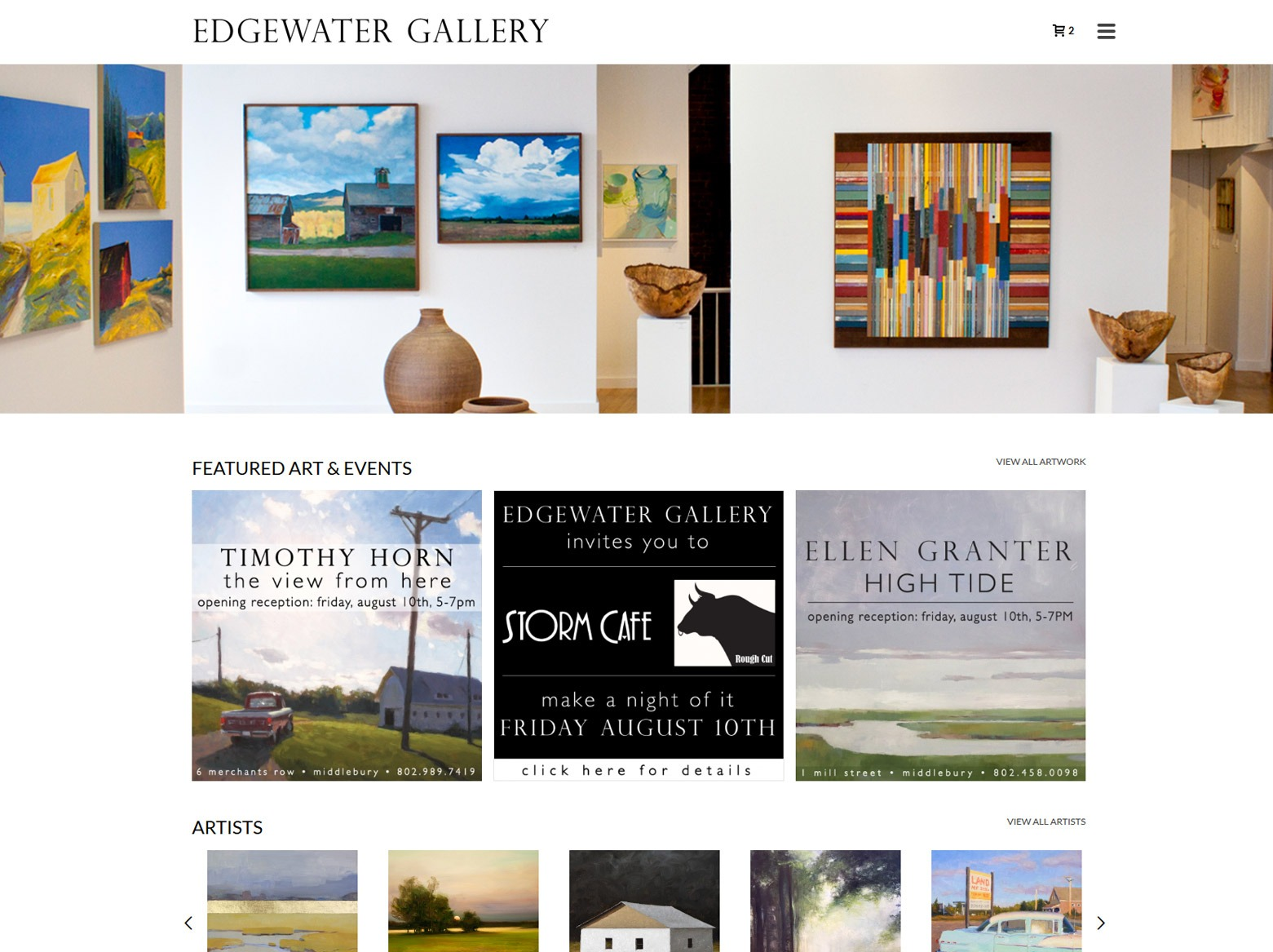 Los Angeles Art Gallery Web Design Company