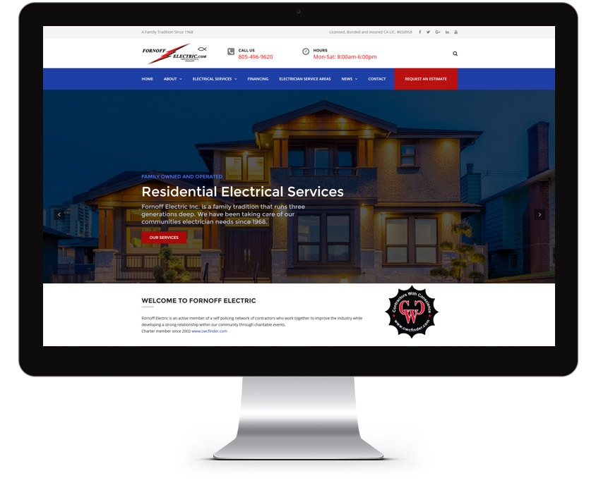 Orange County Electric Company Web Design Company