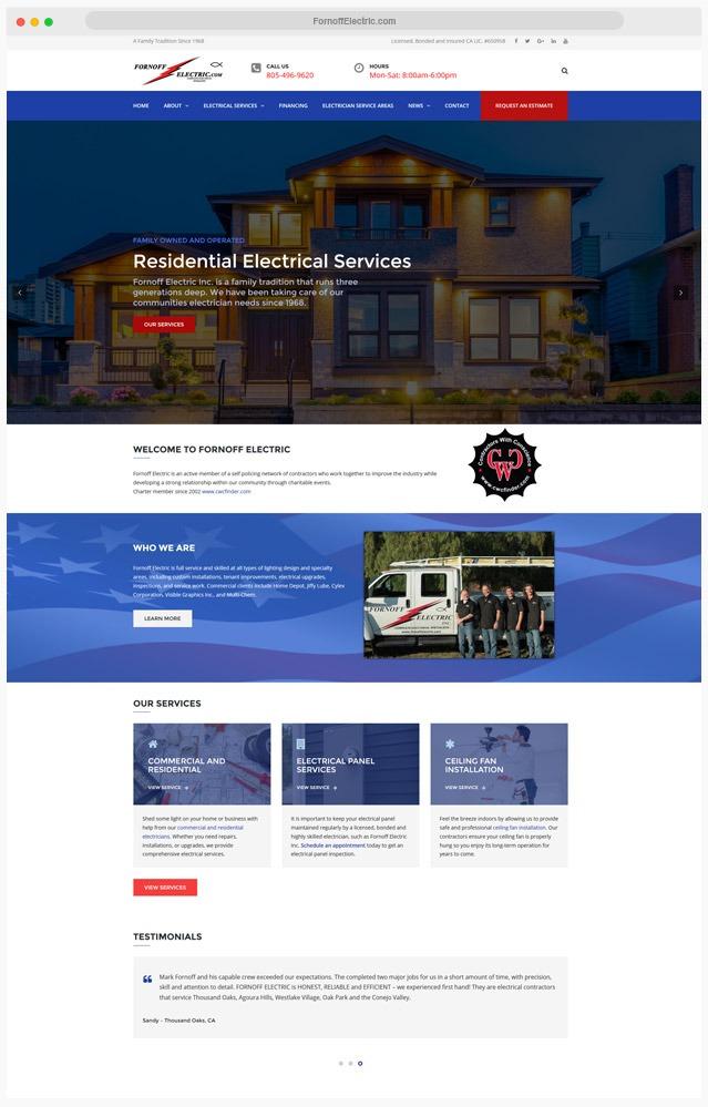 Ventura County Electric Company Web Design Company