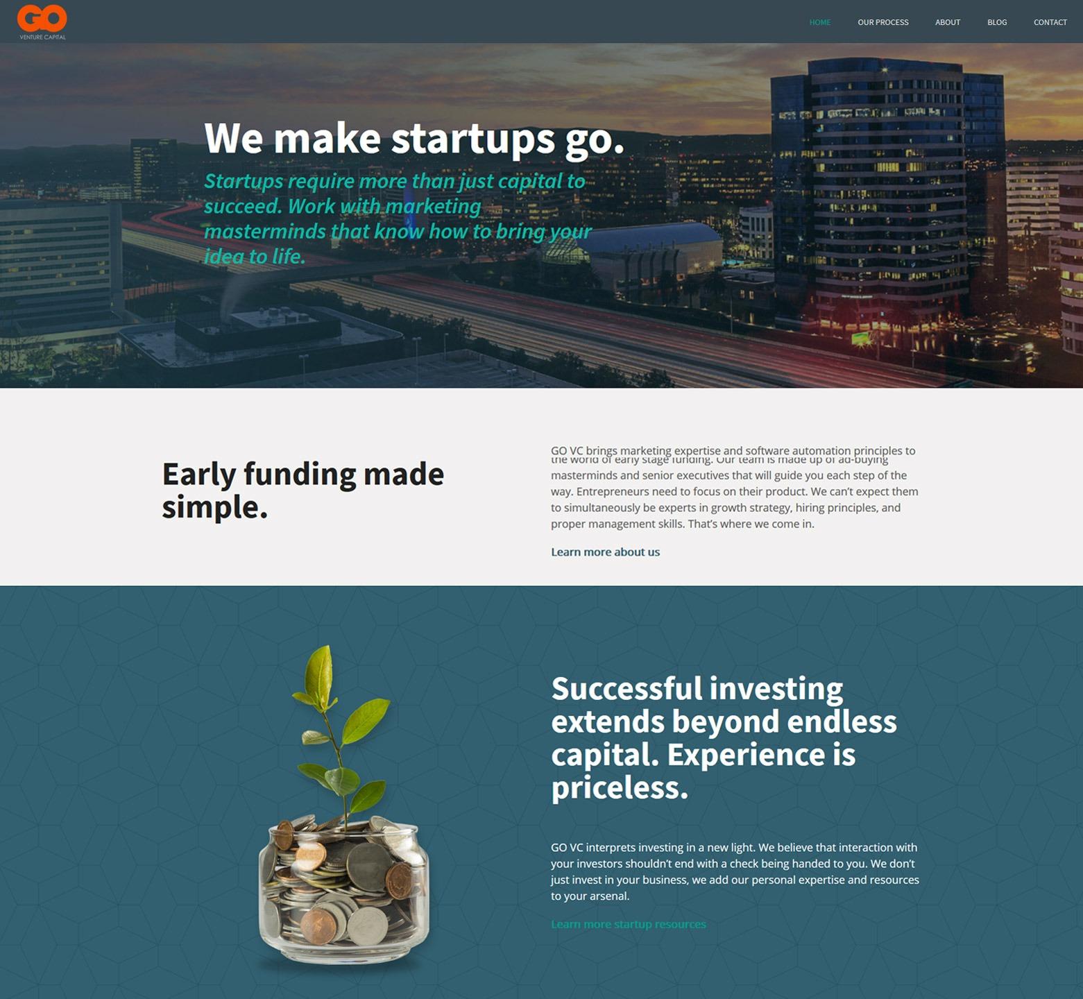 Los Angeles Venture Capital Web Design Company