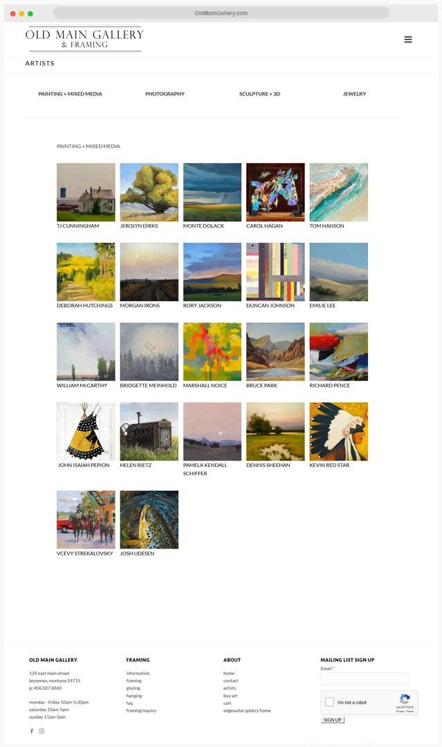 Gallery Website Company