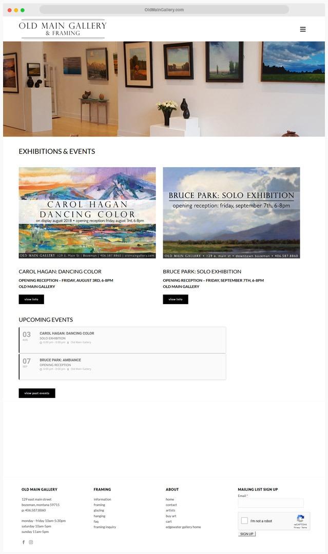 Web Designer for Gallery