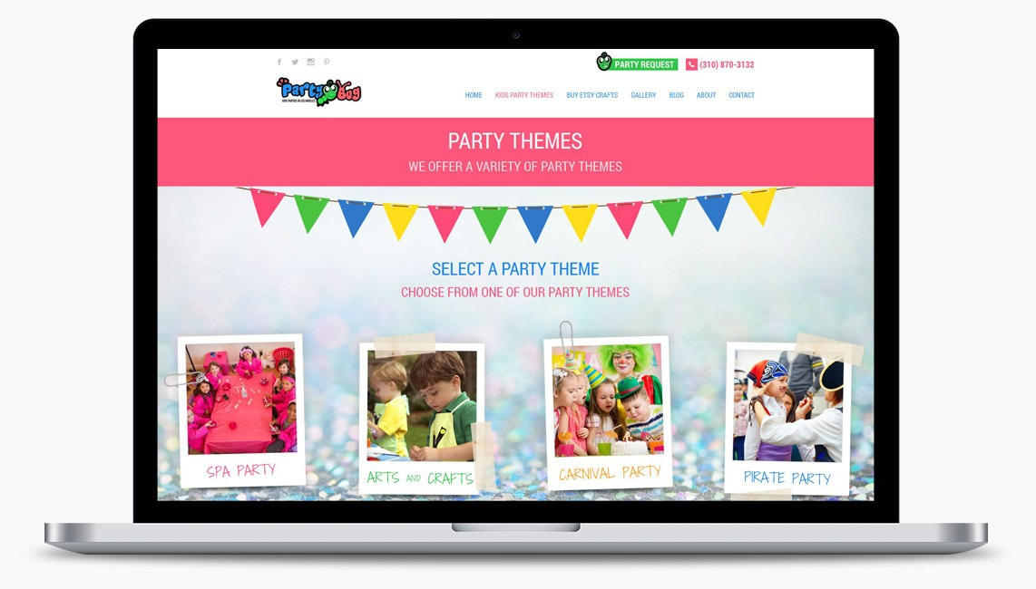 Orange County Party Planning Web Designer