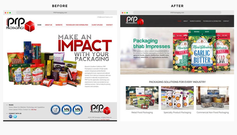 Packaging Company Website Designer