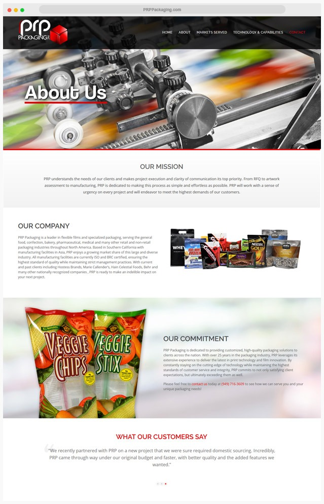 Product Packaging Wesite Design Company