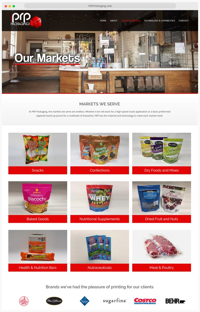 Los Angeles Packaging Web Design Company