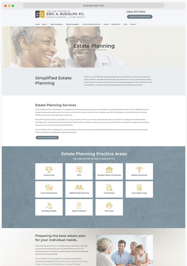 Estate Lawyer Web Designer