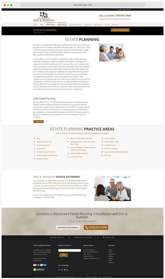 Estate Attorney Web Designer