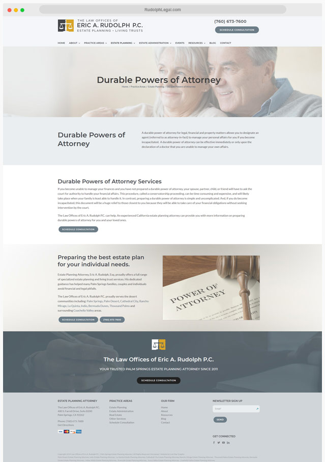 Estate Attorney Web Designer