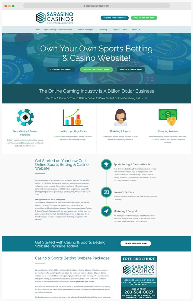 Sports Betting Website Designer