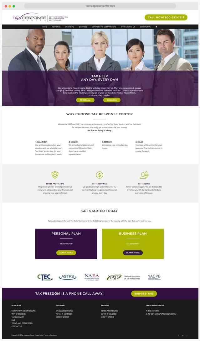 Tax Company Web Designer