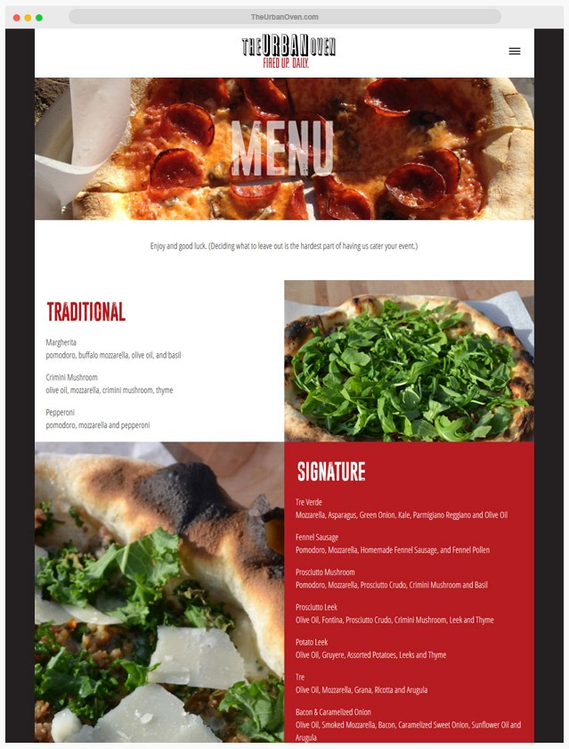 Pizzeria Website Company