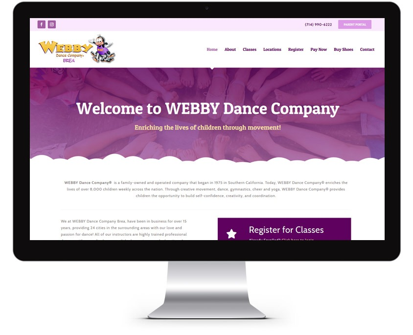Orange County Dance Studio Web Design Company