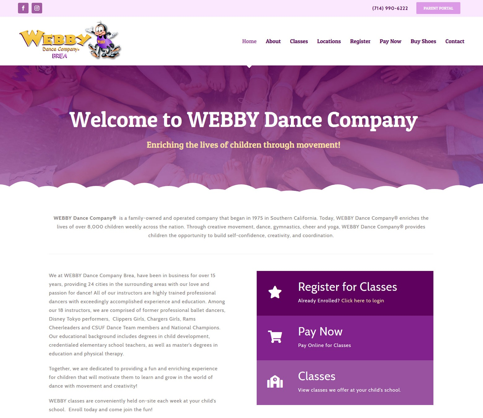 LA Angeles Dance Studio Web Design Company