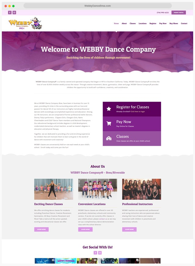 Ventura County Dance Studio Web Design Company
