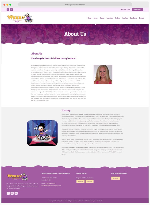 Dance Studio Website Company