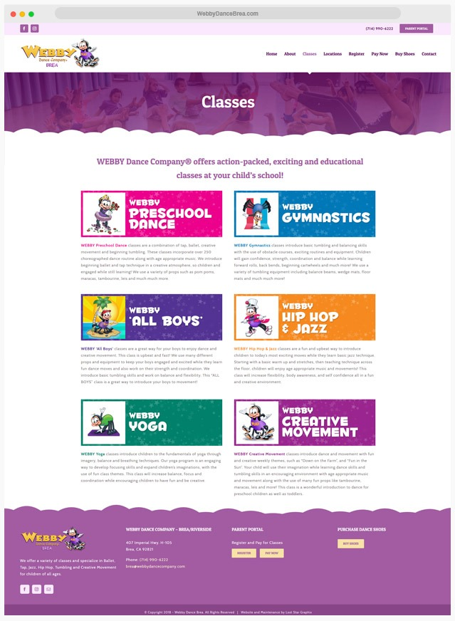 Dance Studio Web Designer