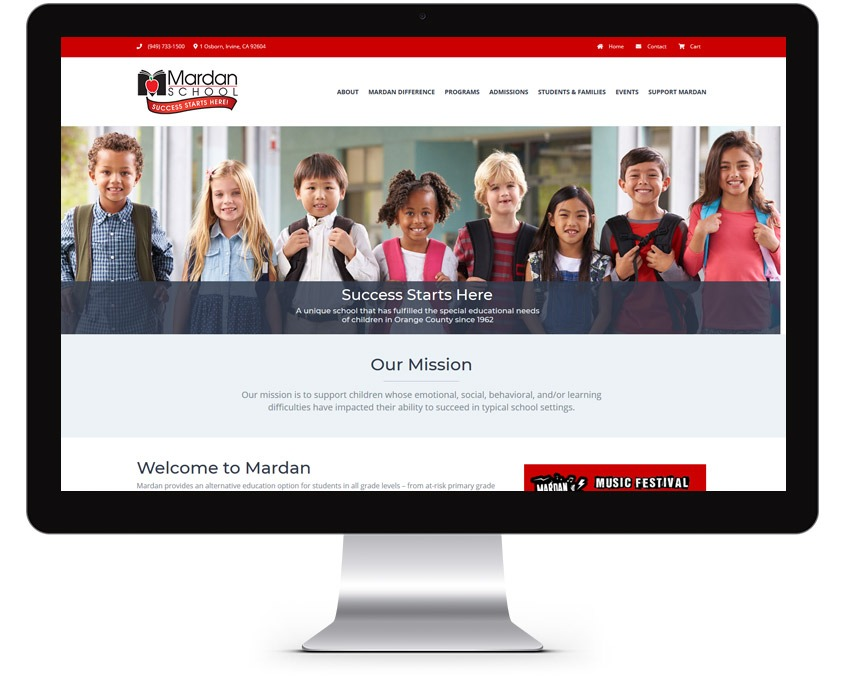 Orange County Private School Web Design Company