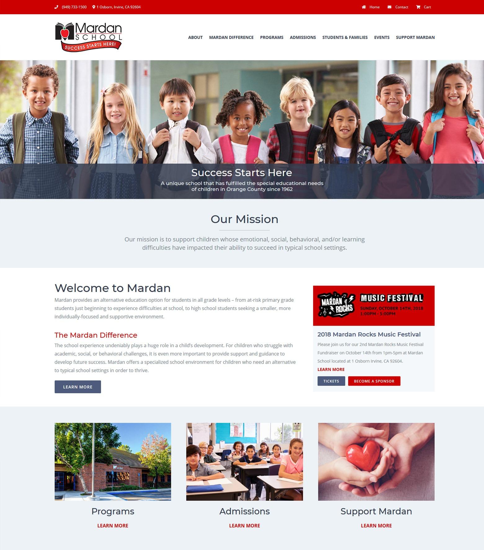Los Angeles Private School Web Design Company