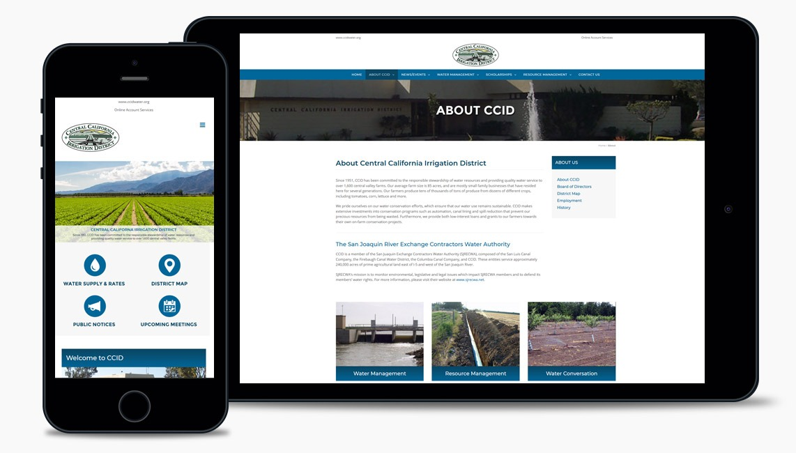 Website Design for Water District