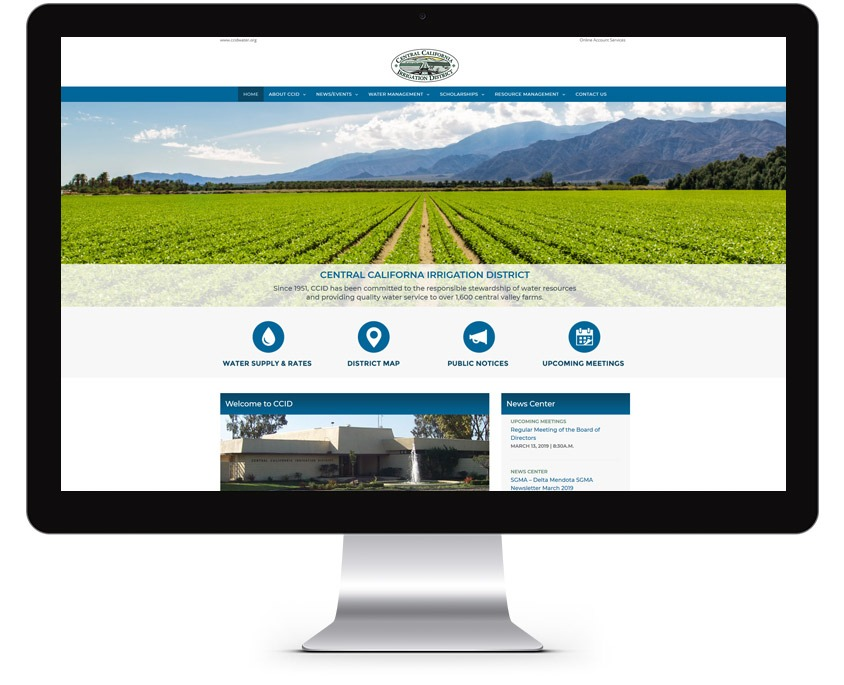 Water District Website Design Company