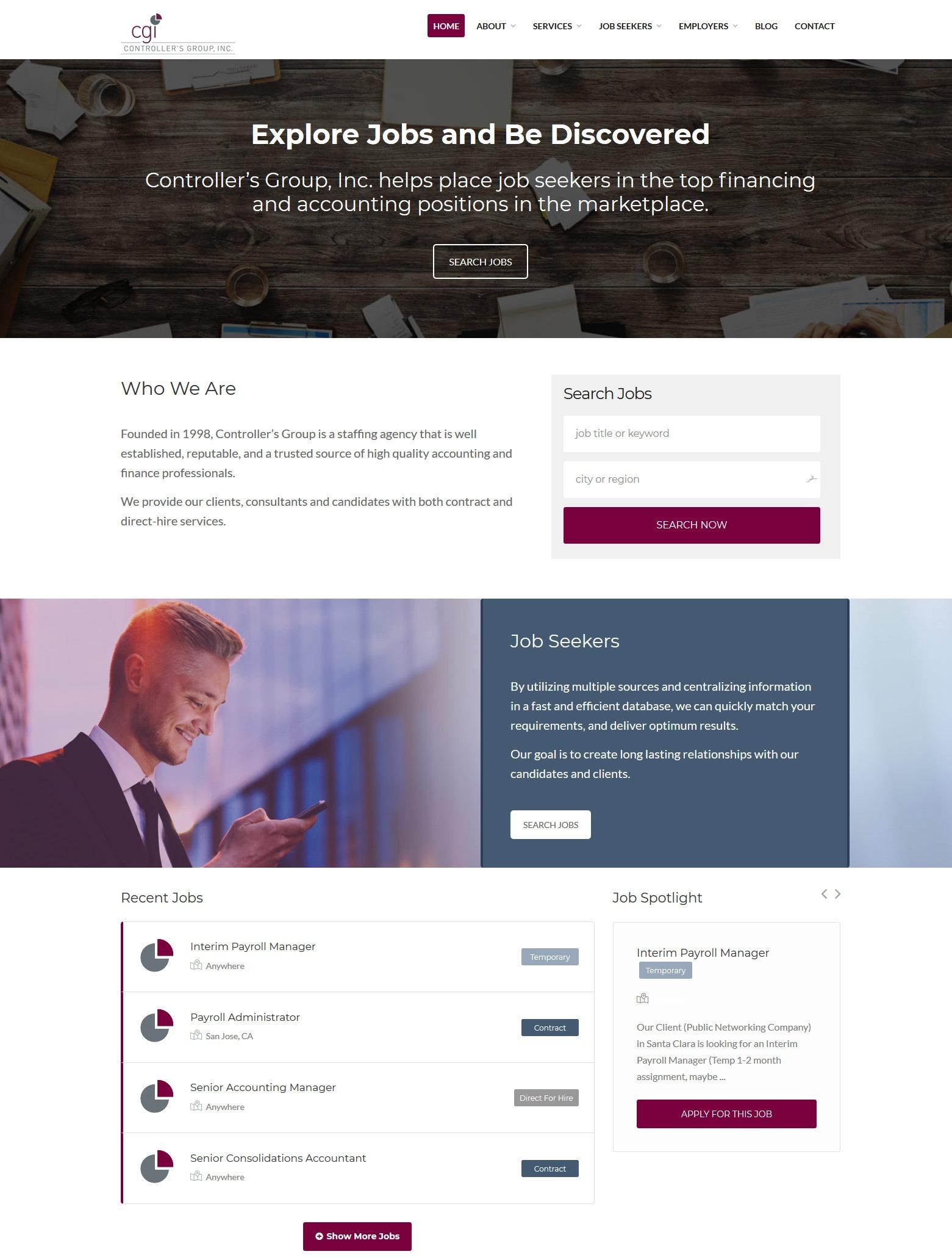 Los Angeles Job Recruiter Web Design Company