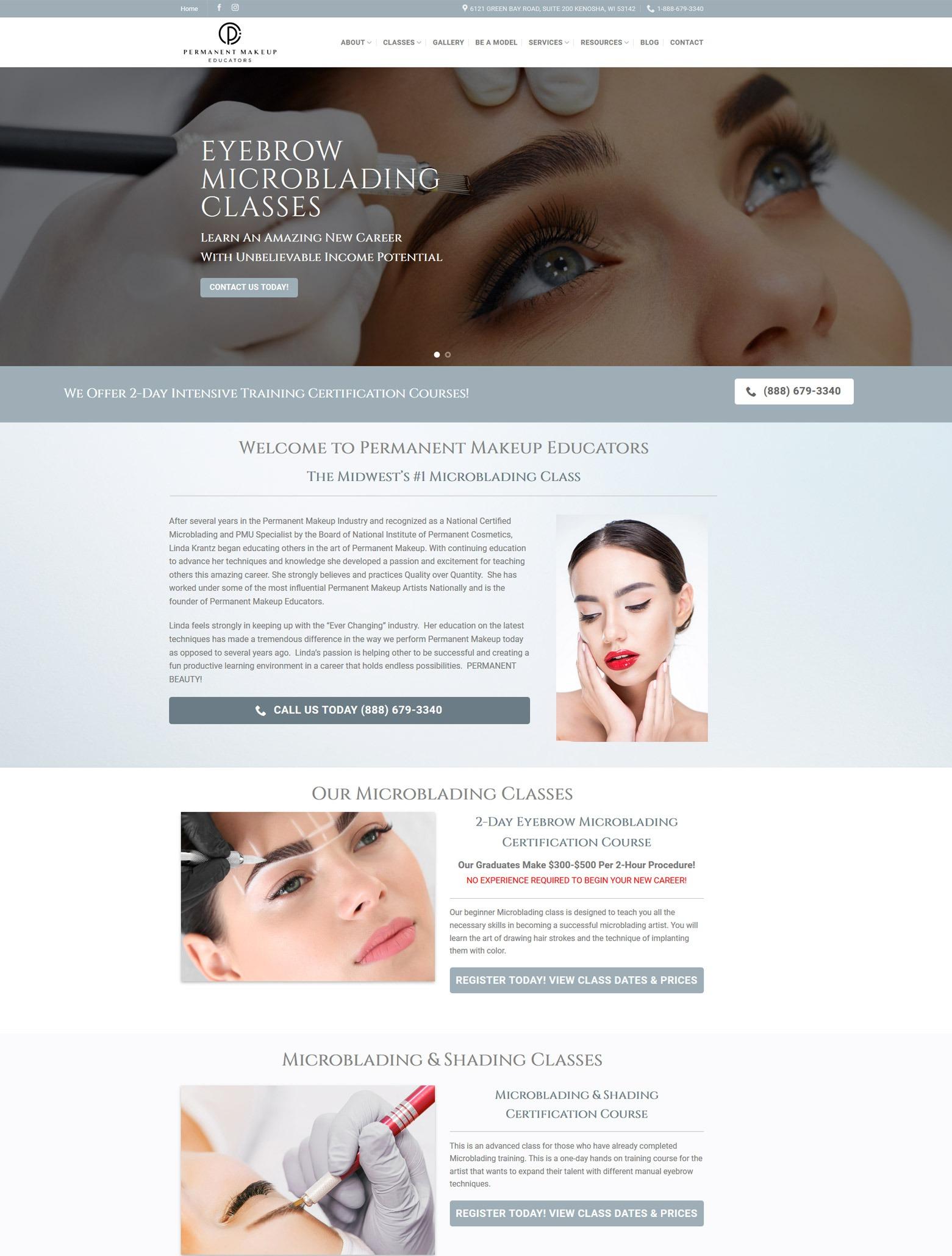 Los Angeles Microblading Web Design Company