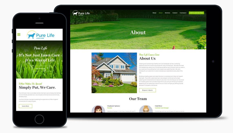 Lawn Care Web Design Company
