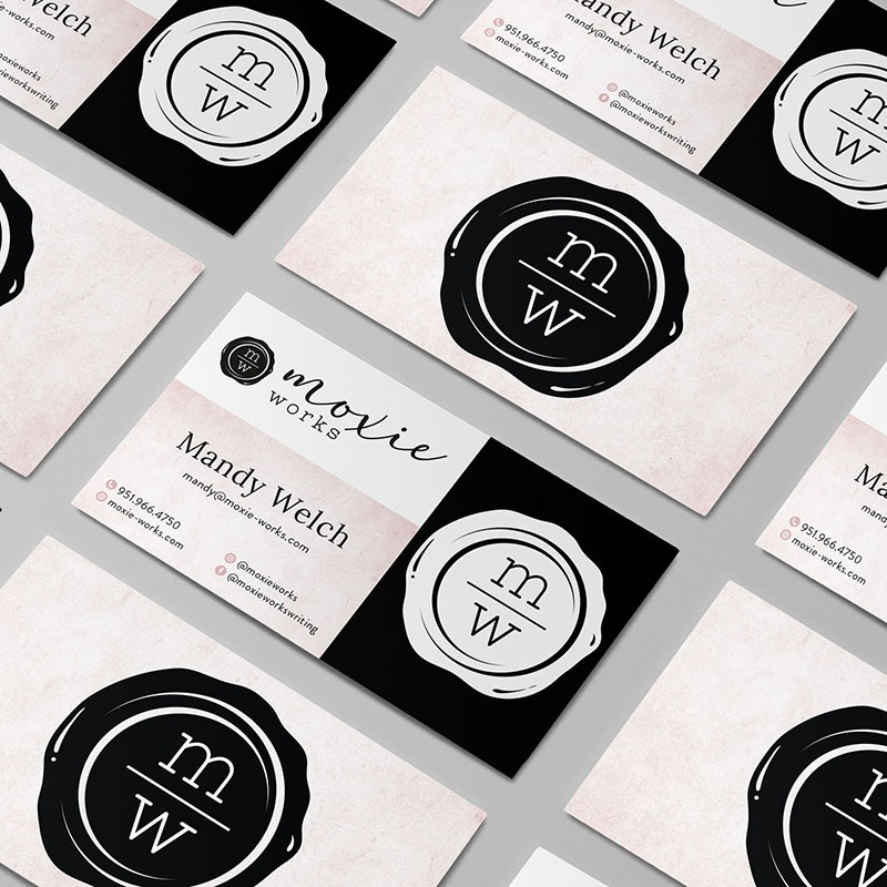 Copyrighter Business Card Design