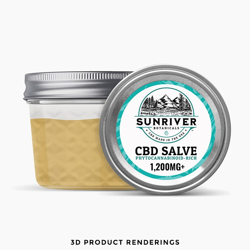 CBD Salve Product Packaging