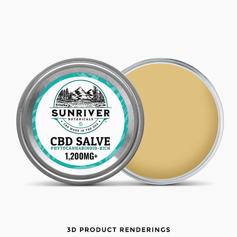 CBD Salve Product Renderings